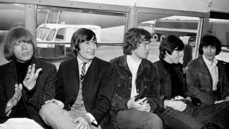 "The Stones in 1965 (from left): Brian Jones, Charlie Watts, Mick Jagger, Keith Richards, and Bill Wyman in a scene from ""Charlie Is My Darling"" DVD."